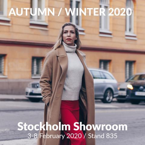 Dixi Coat and Flare Collection AW2020 at Stockholm Showroom